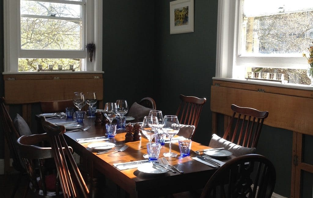 Chez Dominique Bath - our lovely private dining room
